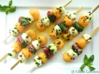 Brochettes de melon mozza idée pique-nique source : google images @Cécile Lorillon