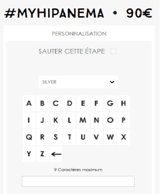 CHOIX DE CARACTERE POUR OFFRIR PAR EX