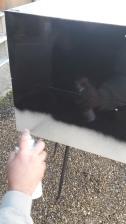 peinture metal bombe pour casiers industriels