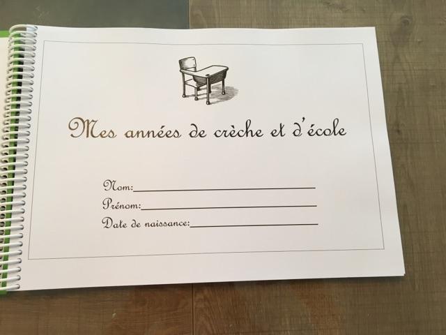 carnet personnalisé de la creche a la terminale photos de classe