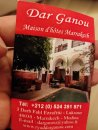 Contact riad dar ganou