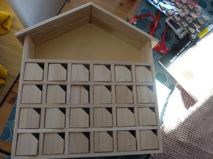 cadre en bois calendrier de l'avent